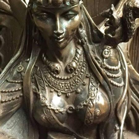 FRONT 2: Maeve / Medb Celtic War and Love Goddess Statue Cold Cast Bronze By Maxine Miller ©Maxine Miller