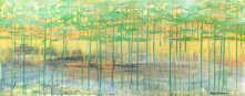 """SOLD """"Golden & Grounded"""" 40x16"""""""