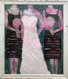 """SOLD, Abstract Bridal Portrait, 16x20"""" w/ vintage frame - order your own custom https://www.etsy.com/listing/531195549/abstract-bridal-portrait"""