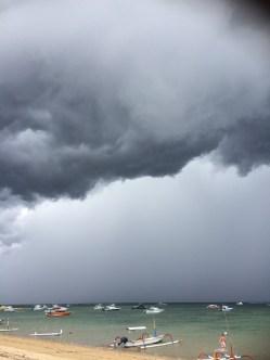 Beginning of a storm