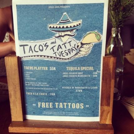 Tacos and tatt Tuesday