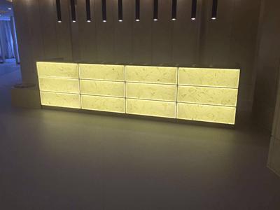 led light panel backlit onyx stone