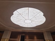 LED panel with onyx for ceiling light