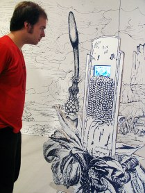 Detail of drawing with video