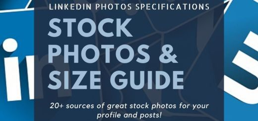 LinkedIn Page Size and Stock Photos Resource.