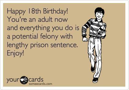 Funny 18th Birthday Wishes Tumblr Maxpals