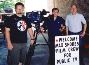 Documentary production team at Sho'nuff BBQ