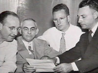 Albert Patterson and Hugh Bentley in meeting – Phenix City, Alabama