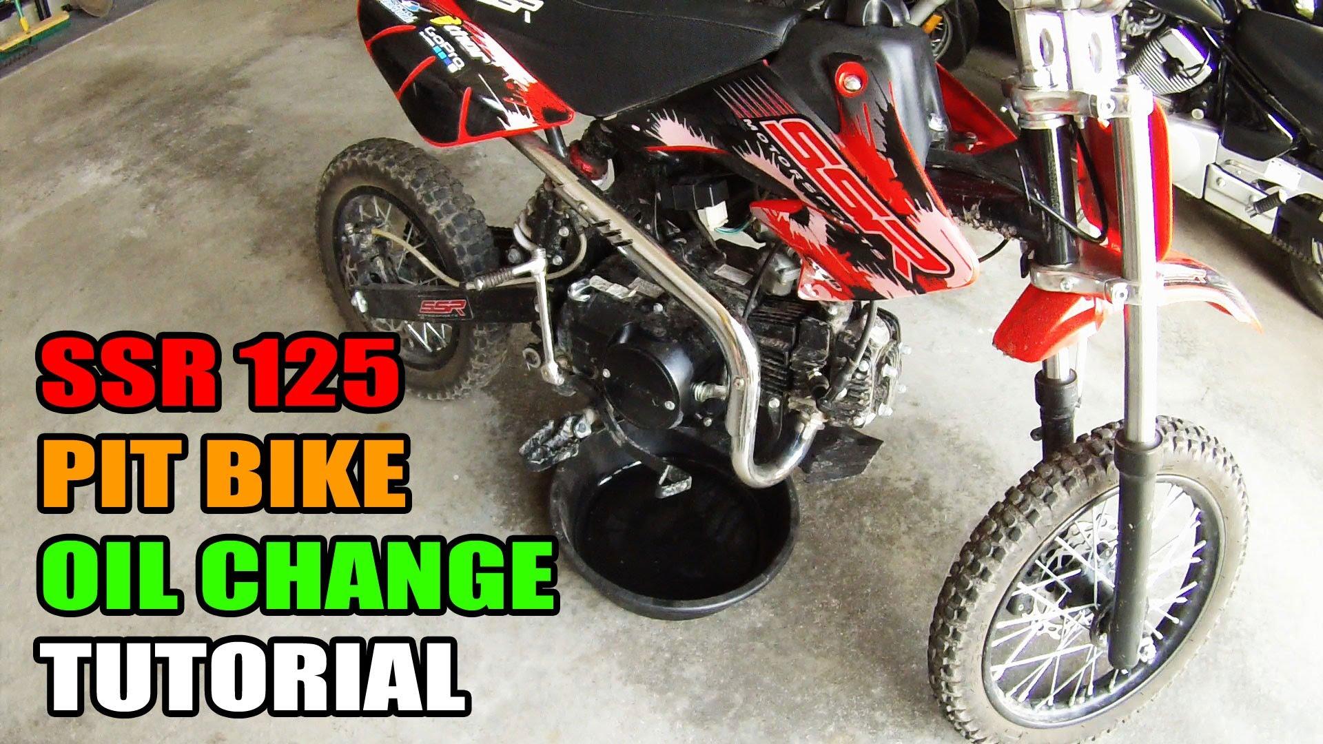 ssr 125 pit bike oil change tutorial