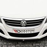 Front Splitter Vw Passat Cc R36 Rline Preface Gloss Black Our Offer Volkswagen Cc Maxton Design
