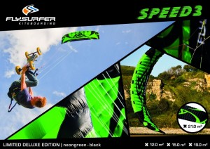 Flysurfer Launch Limited Edition Neon Green Speed 3