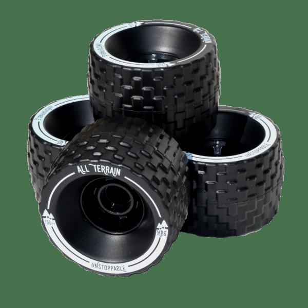 13401 - MBS All Terrain Longboard Wheel - Set - Black