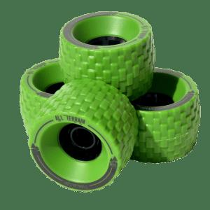 13406 - MBS All Terrain Longboard Wheel Set - Green