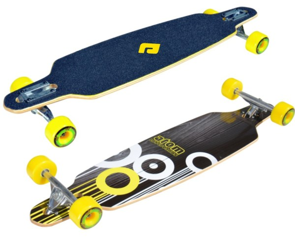 91057 - Atom 36 Inch Drop-Through Longboard Yellow