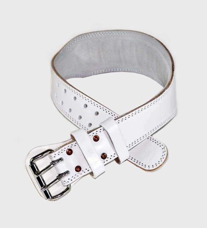 maxwin weight lifting belt white