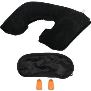Kit calatorie 3 piese, trusa relaxare voiaj cu perna gonflabila, protectie lumina ochi, dopuri de urechi, Bright Line-0