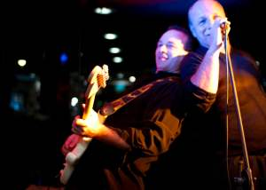 Lead Guitarist Bruno and singer Brett - Sydney Band - The Maxys Party Band