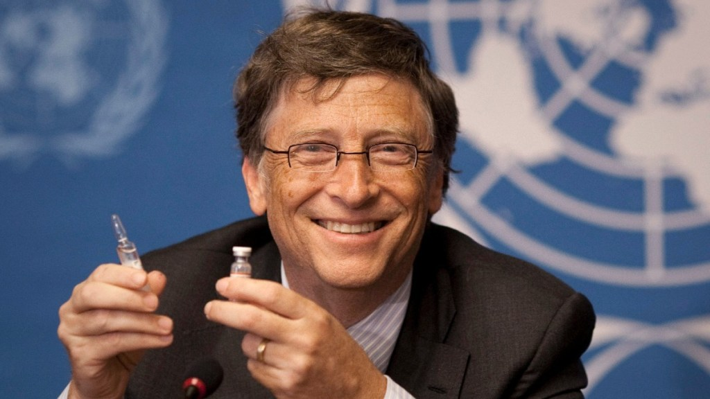 Bill Gates with Vaccine