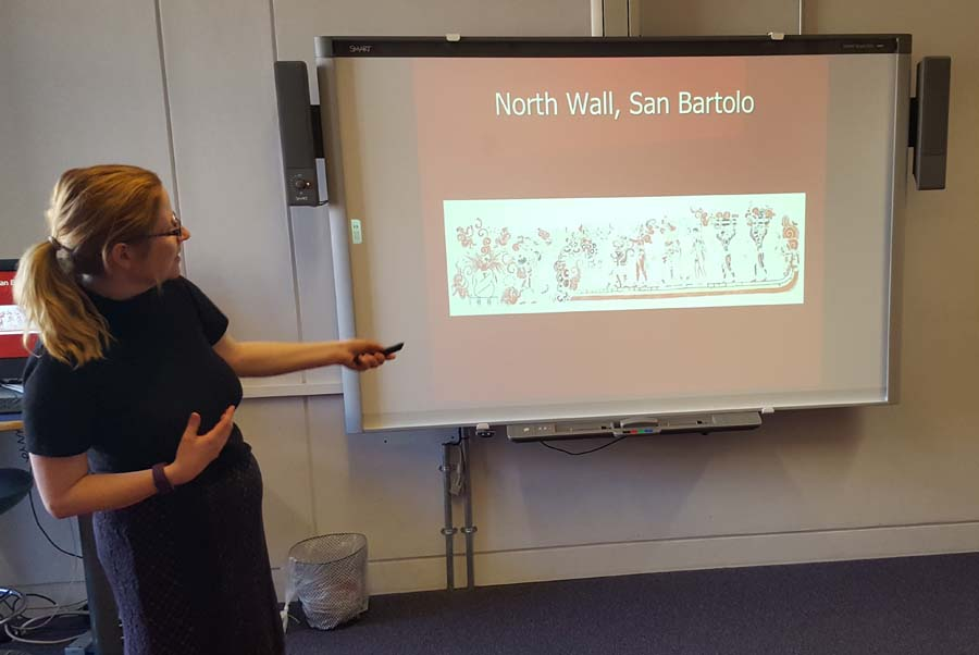 Dr Diane Davies presenting the Maya