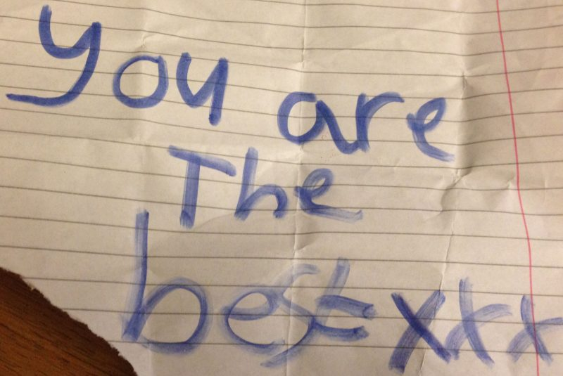 Found in my bag after giving a workshop to Year 5 at Torriano School, London