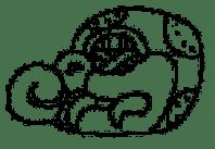 Maya ghieroglyph for crocodile