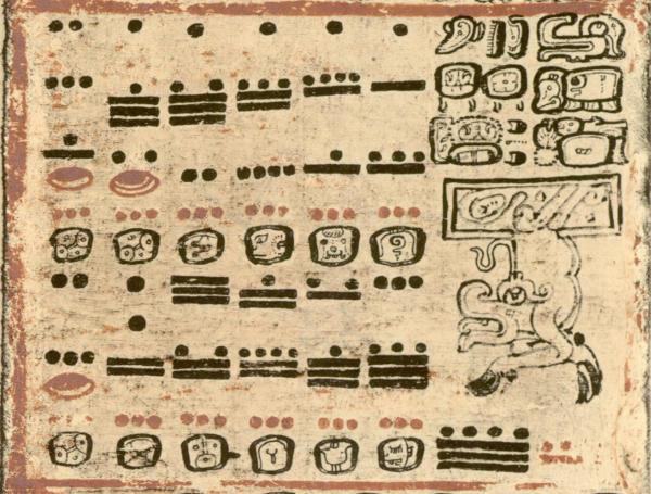 Maya Number System - Dresden Codex - 44B