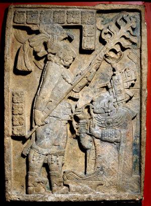 Yaxchilan Lintel 24 - ritual bloodletting
