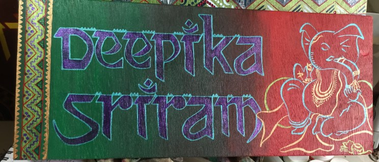 First attempt at a Ganesha on nameboard