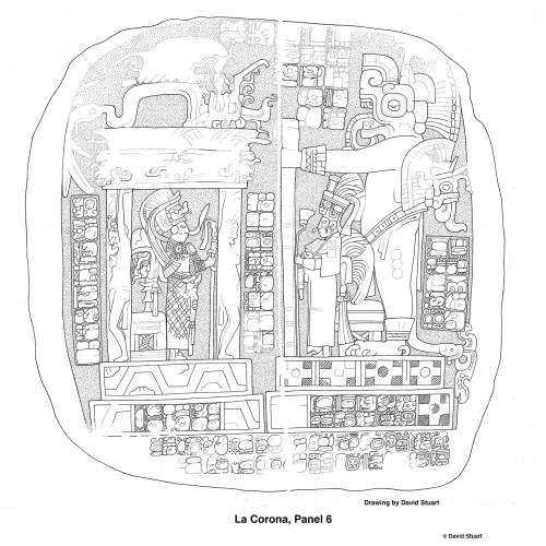 La Corona, Panel 6. Drawing by David Stuart.