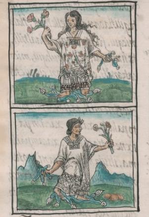 Figure 2. Prostitutes in the Florentine Codex, Book 10, f39v.