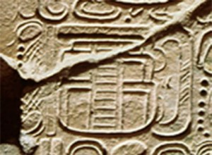 """Figure 3. """"He of the Five Platform? Buildings,"""" as title of K'inich Janab Pakal that probably refers to the Palace's main structures. From the Tablet of the 96 Glyphs. (Photograph by Jorge Perez de Lara.)"""