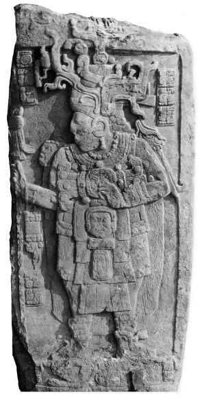 Figure 1. Calakmul Stela 51 (photograph by Frances Morley, courtesy of the Corpus of Maya Hieroglyphic Inscriptions at the Peabody Museum, Harvard University)