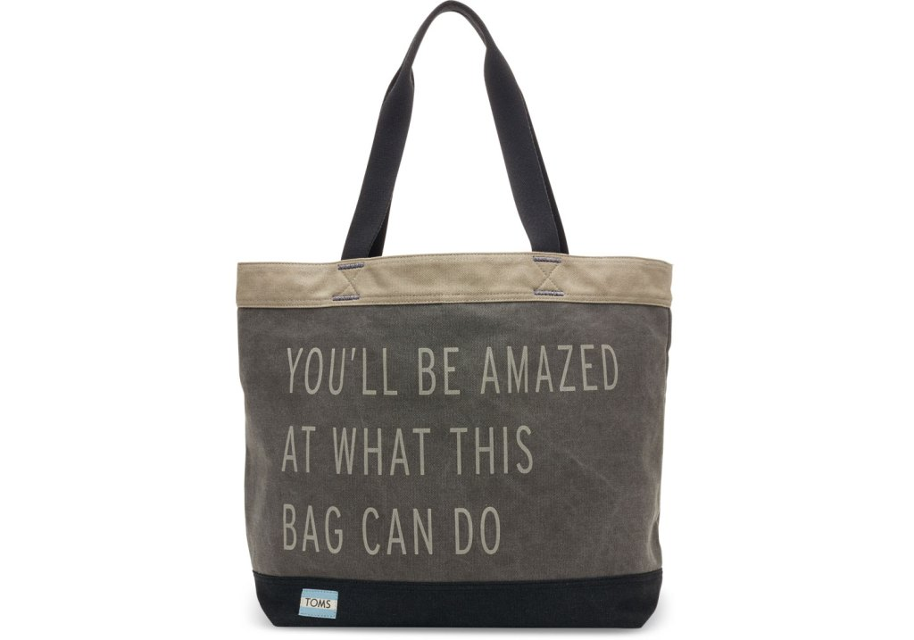 TOMS Charcoal You'll Be Amazed Transport Tote