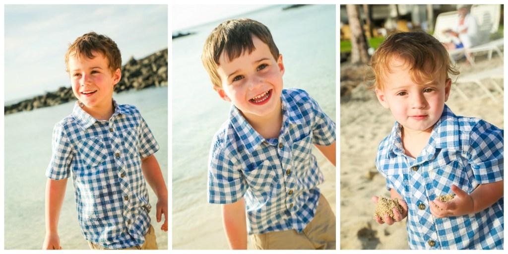 3 boys Collage hawaii