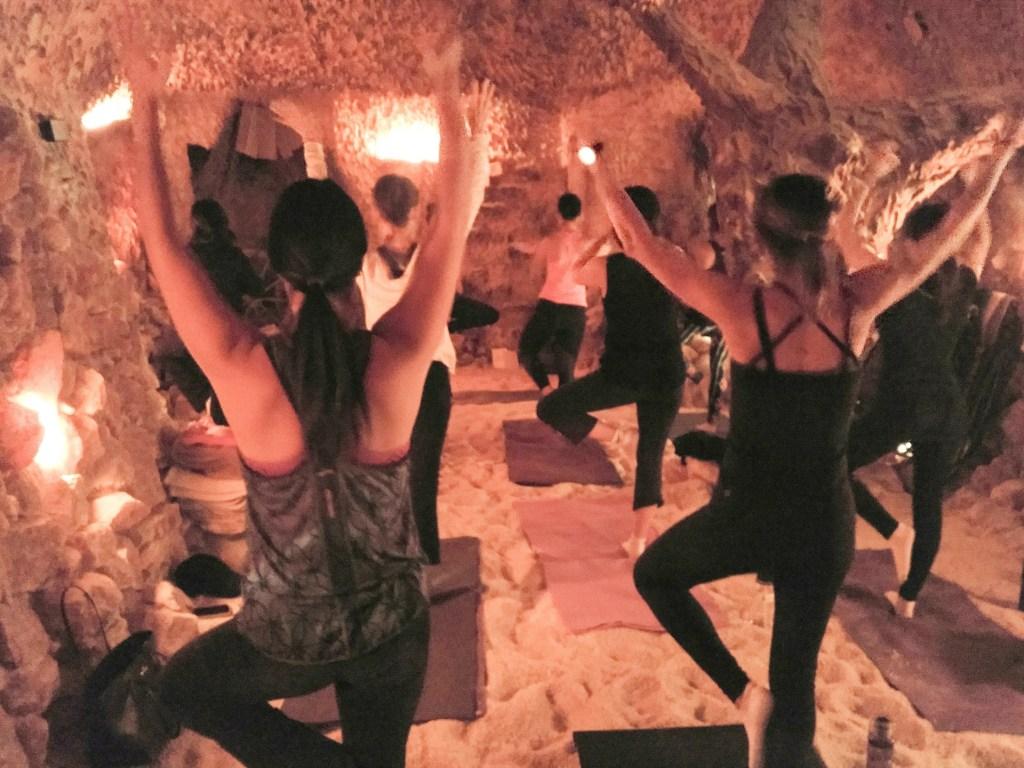 yoga salt cave
