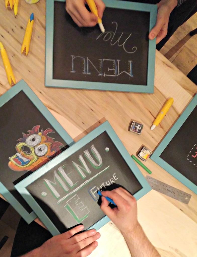 jjb framed chalk board