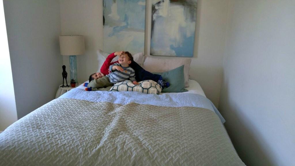 minimalist boys room