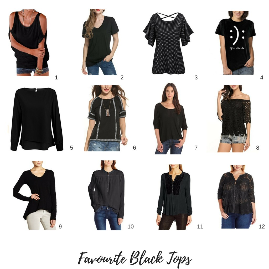 Amazon Black Tops!