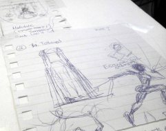 Sketching ideas for my exhibition