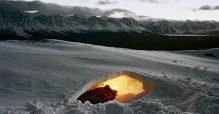Fosse sous neige