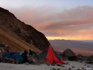 Cordillera Arequipa ascencion Chachani campamiento de base 5100m