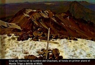 Cordillera Arequipa ascencion Chachani cumbre vista