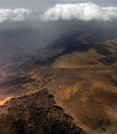 Simien 9 Bwahit pass vue aerienne Nord sud