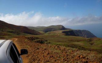 CaboVerde2013-A-04 Tarrafal Piste descente plateau bord