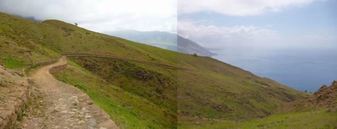 CaboVerde2013-B-03 Monte Trigo-montee norte debut panormama sud