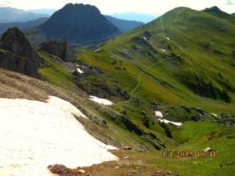 IMG_1275 Montee Neve avant Tromeda Trekufiri Vue sur col pour Doberdol