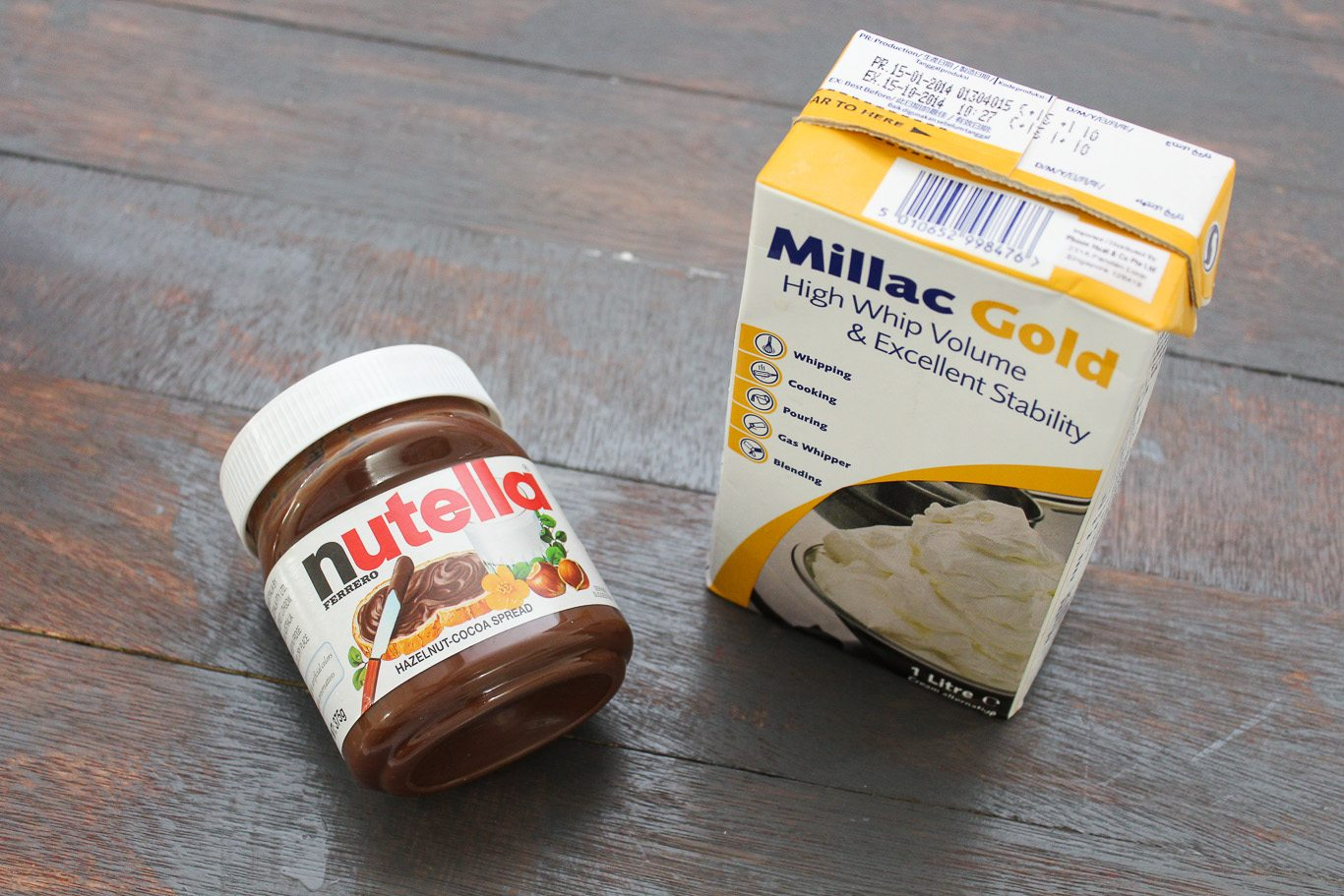 Two Ingredient Nutella Mousse