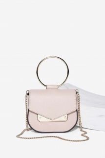 Nasty Gal Nude Faux Leather Crossbody Bag