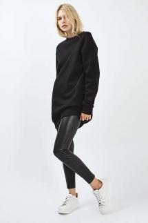 Topshop Black Faux Leather Pants