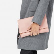 Peach Everlane Clutch Bag